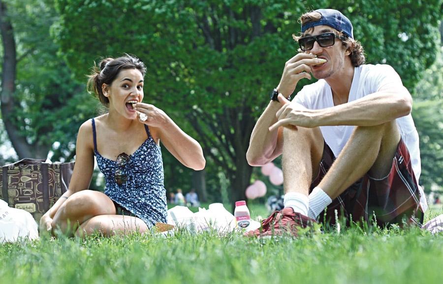 Central Park, fazendo um delicioso piequenique