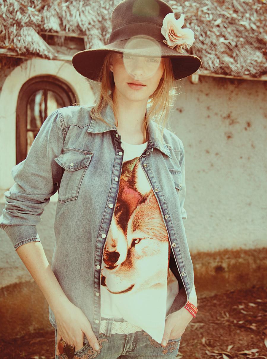 Ao lado: chapéu Zara R$ 98, camisa Les Amis R$ 328, regata Farm R$ 96, jeans Eckored R$ 347,50, cinto Eden R$ 79, pulseira Cantão R$ 72, anel (mais escuro) Volta ao Mundo R$ 25, anel Sobral R$ 19