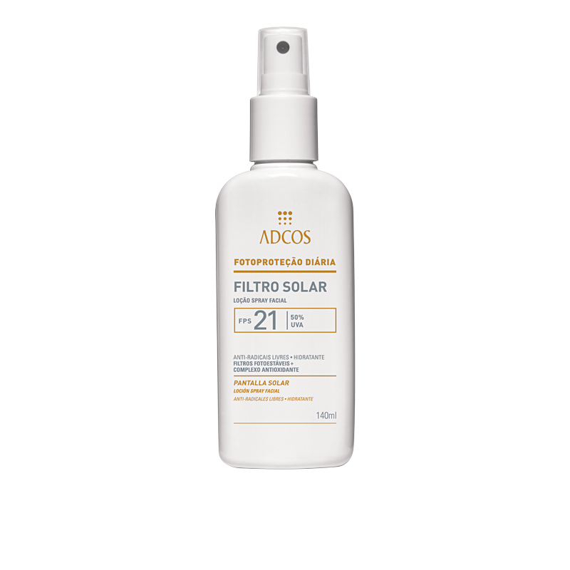 10• ADCOS Filtro Solar Loção Spray Facial FPS 21, R$ 64: possui complexo antioxidante que promove hidratação, combate os radicais livres e é indicado para peles oleosas. ADCOS 0800-7221123