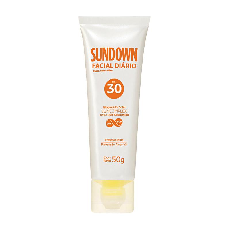 5 • Sundown Facial Diário FPS 30, R$ 27,50: proteção e hidratação de longa duração, pode ser usado no rosto, nas mãos, no colo e no pescoço. Sundown 0800-7036363