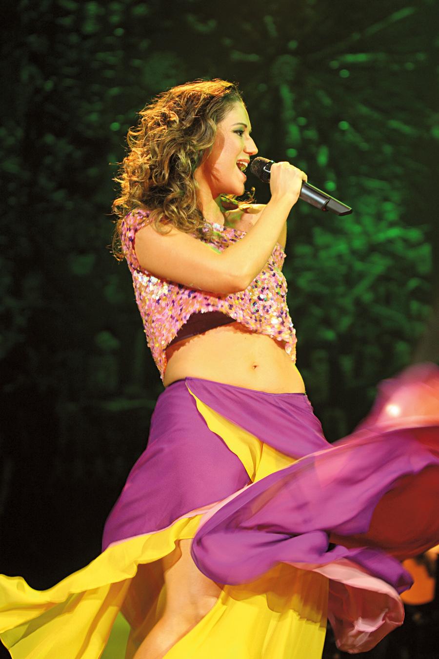 Em show do terceiro álbum, Samba Meu, em 2008