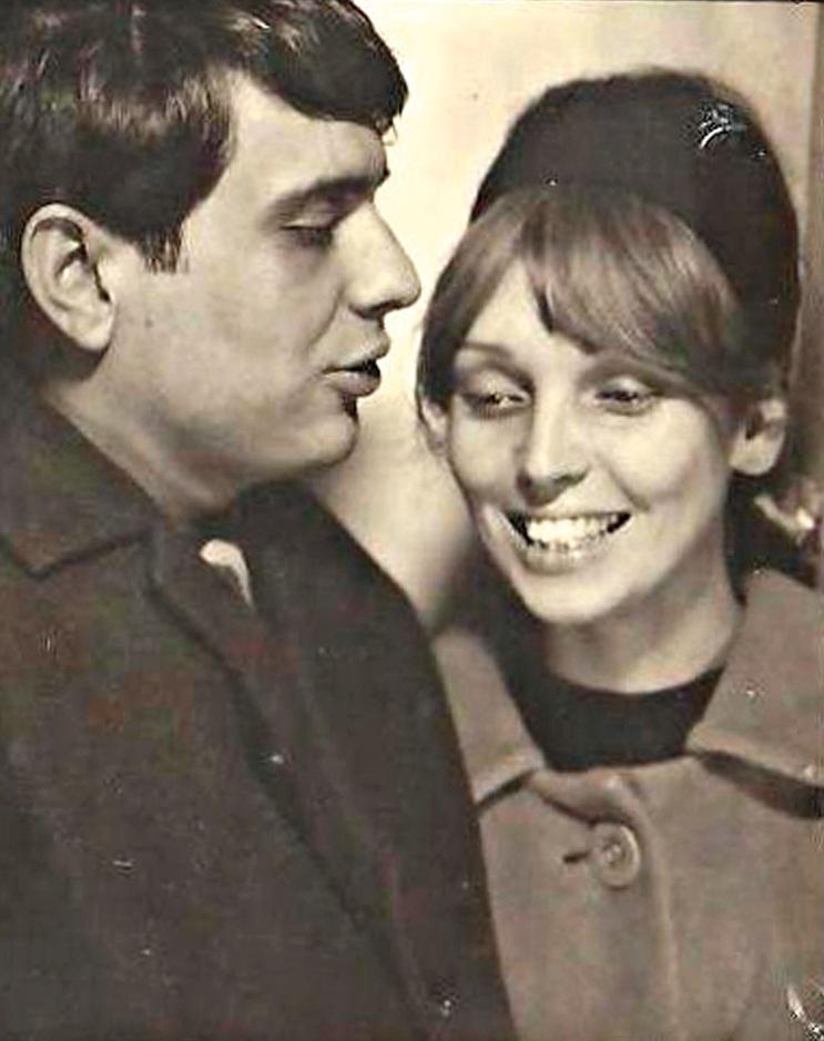 O ex-marido Gustavo Dahl e Maria Lucia, no início  dos anos 60