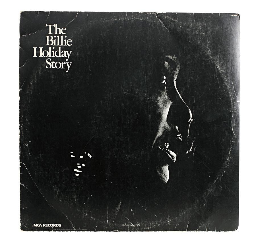 """Álbum The Billie Holiday Story """"Não sei de quem ganhei, recebi no teatro com um bilhete: 'Eu sei que é esse que você sempre quis'."""""""