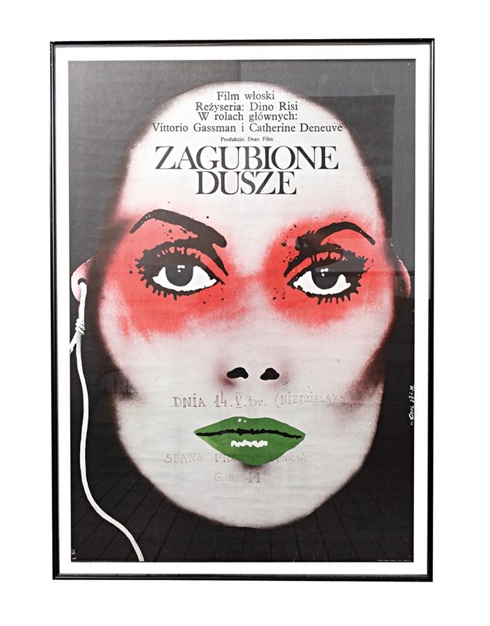 """Pôster do filme Zagubione Dusze """"Meu marido comprou na Cracóvia, num lugar que vendia pôsteres antigos."""""""
