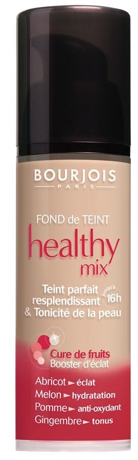 Bourjois Healthy Mix, R$ 103,90: é produzida com uma mistura de frutas, uniformiza e realça a luminosidade da pele com duração de até 16 horas. Bourjois 0800-7043440