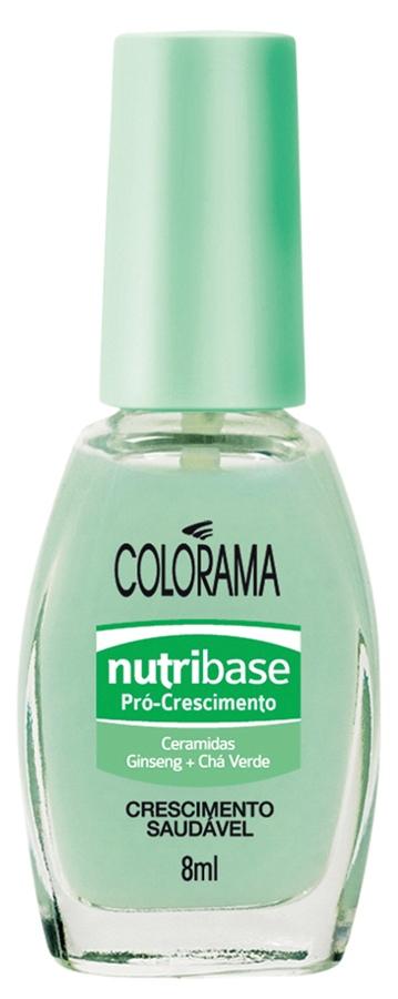 Colorama Nutribase Pró-crescimento, R$ 3,15: base formulada com extrato de chá-verde  e ginseng, estimulantes de crescimento. Colorama 0800-7010114