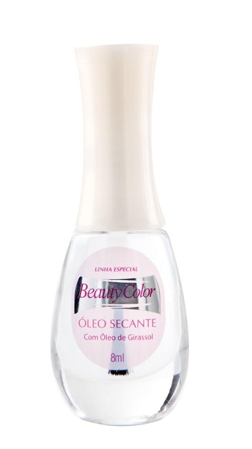 10. Beauty Color Óleo Secante, R$ 2,09:  com óleo de girassol, garante a secagem rápida do esmalte,  além de hidratar as cutículas. Beauty Color 0800-7049030