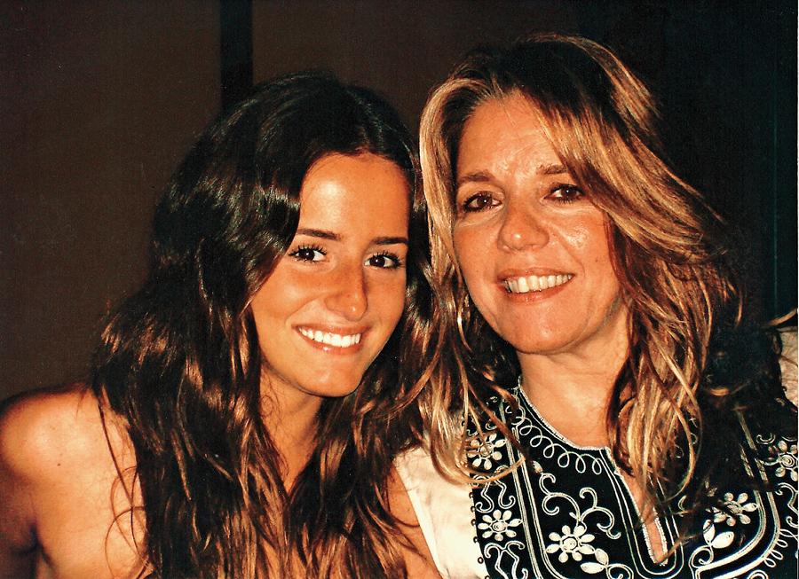 Com a mãe, Patrícia