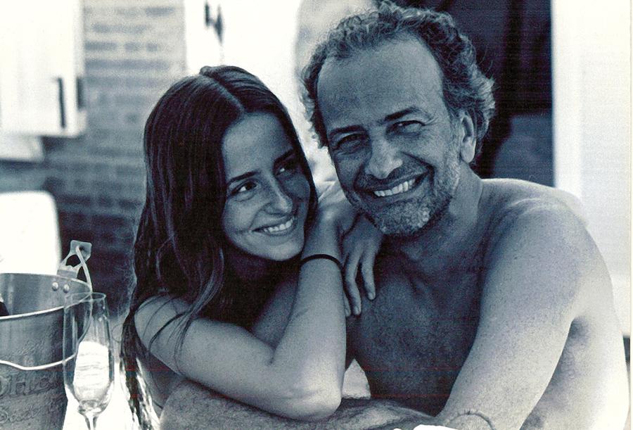 Com o pai, Marco Antônio