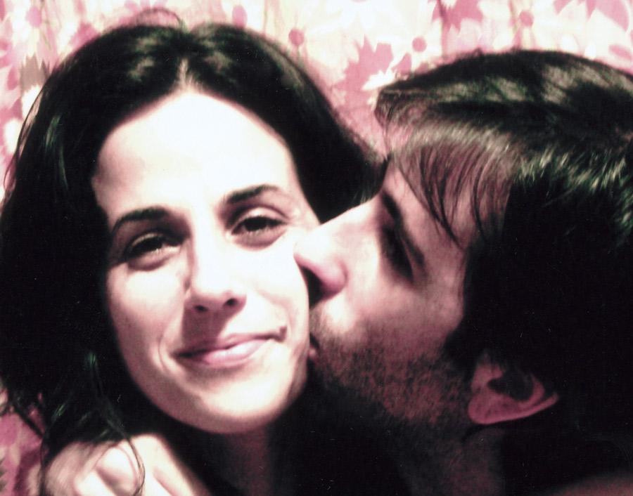 Com o irmão, Pedro, na comemoração do aniversário de 34 anos dela