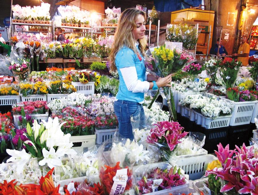 """5h30: """"Terça é dia de acordar cedo para ir à Ceagesp ver se as flores que encomendei estão bonitas"""""""