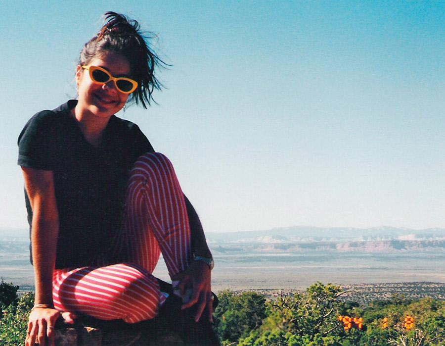 Roberta, em 1997,  no Grand Canyon,  na época que  morou em Los Angeles