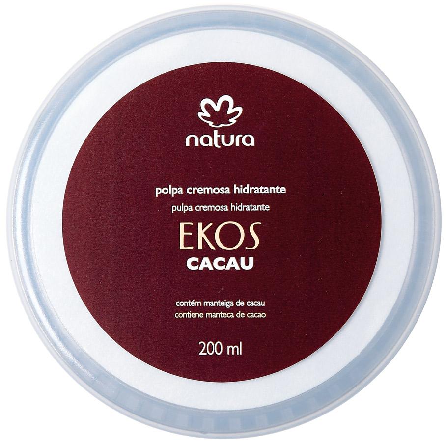 2. Natura Ekos Polpa Cremosa Hidratante Cacau l R$ 29,70: com alta concentração de manteiga de cacau, tem uma cremosidade densa e é fácil de espalhar. Natura: 0800-115566
