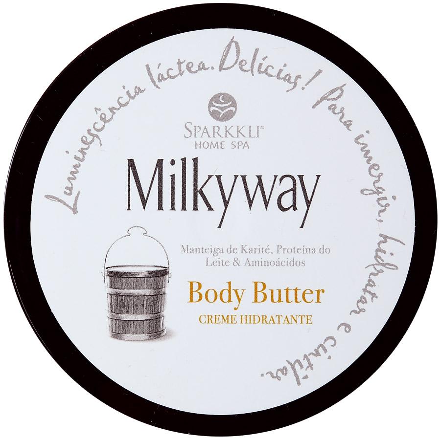 3. Sparkkli Home Spa Milkyway Body Butter l R$ 95: para uma hidratação profunda com as propriedades regenerativas e cicatrizantes da manteiga de karité. Sparkkli Home Spa: (11) 3846-6848