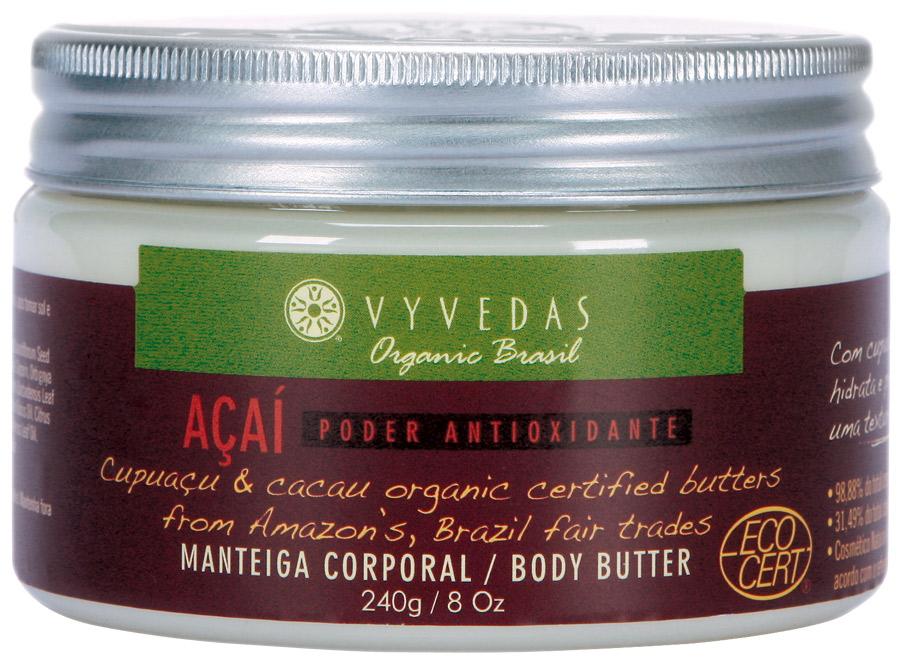 10. Vyvedas Manteiga Corporal Orgânica de Açaí l R$ 60: produto orgânico formulado com açaí, que tem propriedades antioxidantes e hidratantes. Vyvedas: (11) 5548-4221