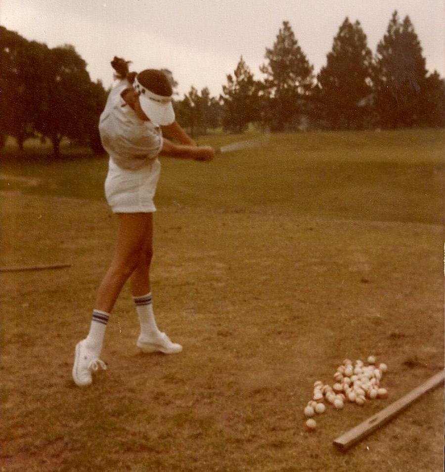 Esporte favorito: Mary  no São Fernando Golf Club, em Cotia (SP). Até entrar na USP, em 1989, ela treinava três vezes por semana