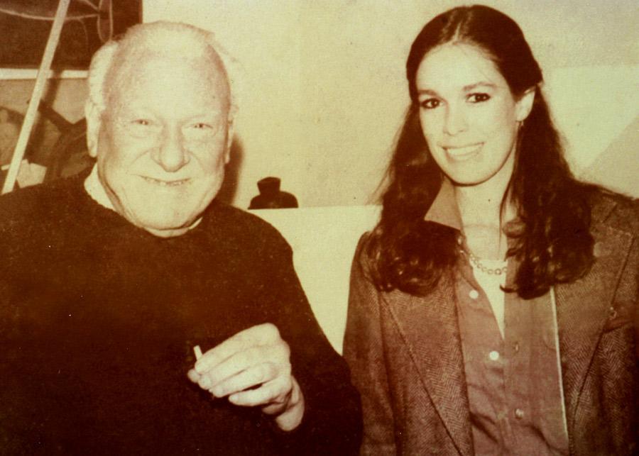Apreciadora de arte, eram frequentes as visitas ao ateliê de Alfredo Volpi, em São Paulo
