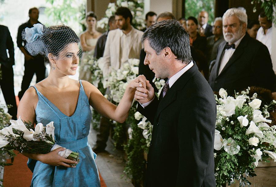 Em 2009, como Maria Rosa, com o ator Leopoldo Pacheco,  na novela Paraíso