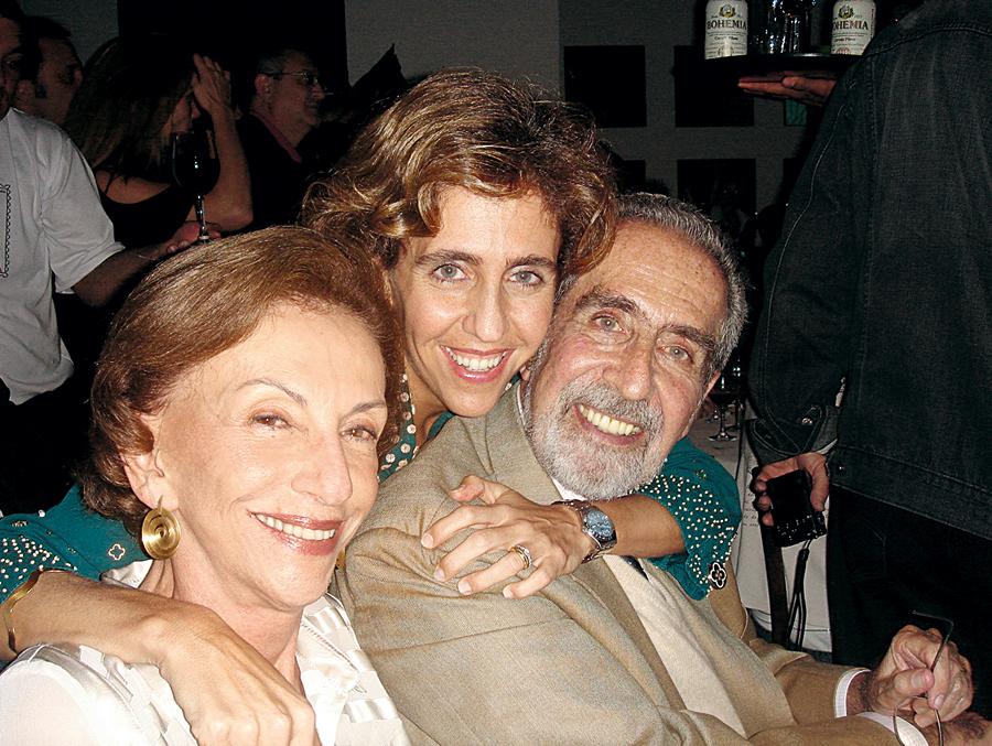 Com os pais, Regina  e Geraldo,  em 2007