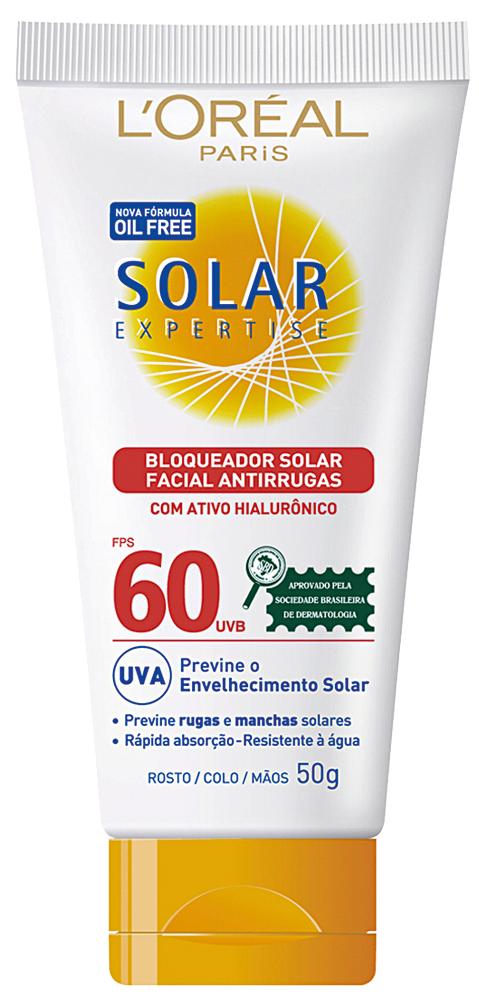 """Indispensável:  """"Nunca pensei que protetor solar seria um cuidado diário. Antigamente achava que era frescura. Hoje sei que não é. Uso este da L'Oréal, fator 30 no corpo e 60 no rosto"""""""