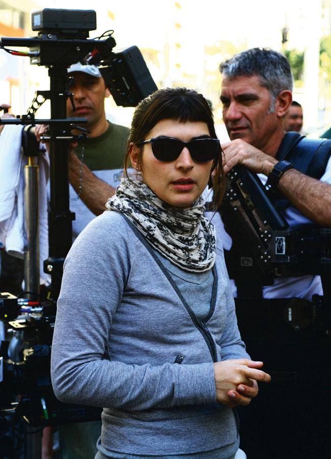 No set de seu segundo curta,  Elo, em julho de 2008