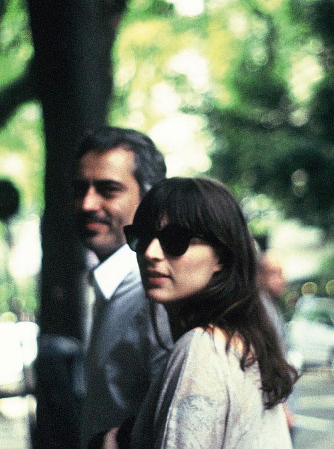 Com o namorado, o diretor Heitor Dhalia, no começo do ano passado