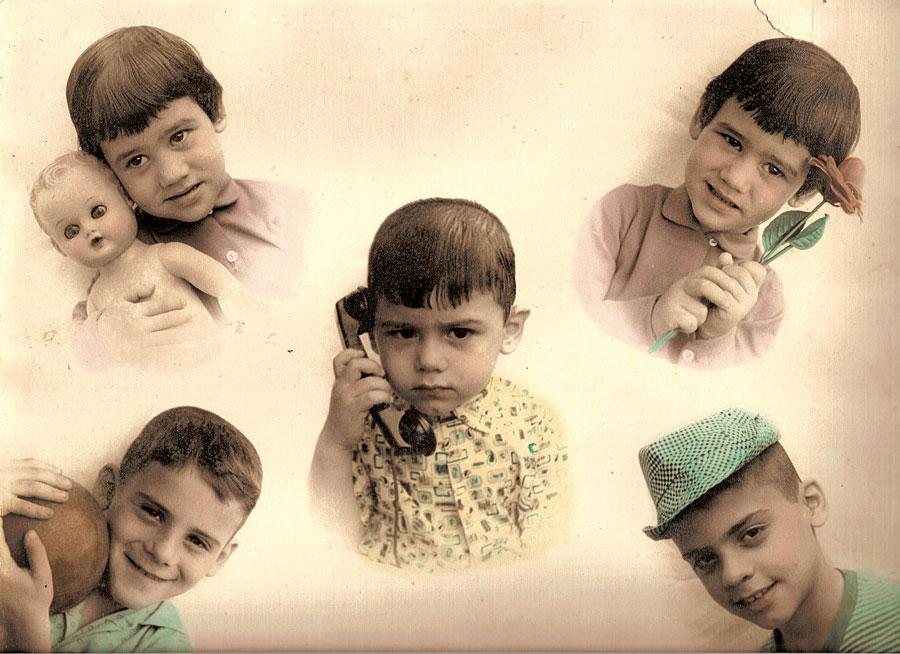 Mirian aparece duplicada na clássica foto com os irmãos