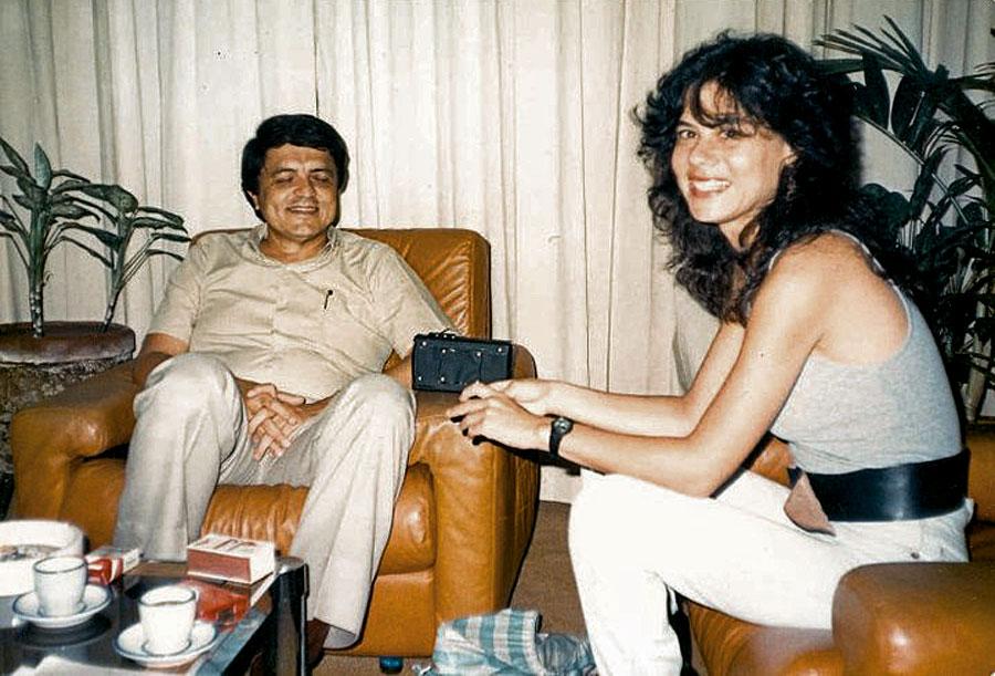Entrevistando o então vice-presidente da Nicarágua sandinista, Sergio Ramírez, em 1986