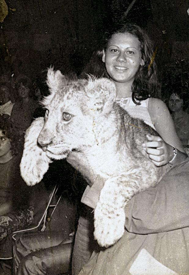 Aos 17 anos, em um espetáculo de circo em Santos (SP)