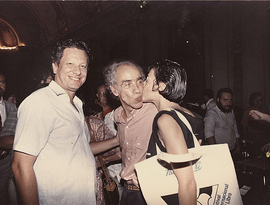Nos anos 80, com Betinho, no comitê pró-constituinte  do Rio de Janeiro, do qual Mirian era uma das líderes