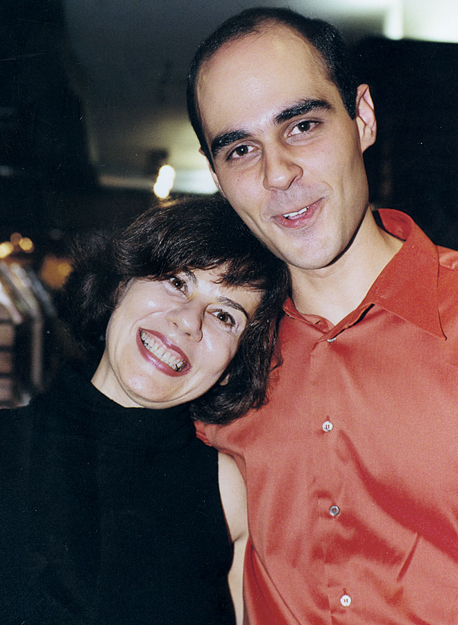 Com o ex-aluno e melhor amigo, Marcelo