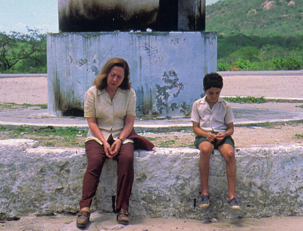 Durante  as filmagens de Central do Brasil,  em 1998