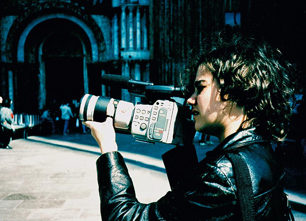 Filmando a turnê do quarteto Jobim-Morelenbaum, em Paris, no ano de 1997