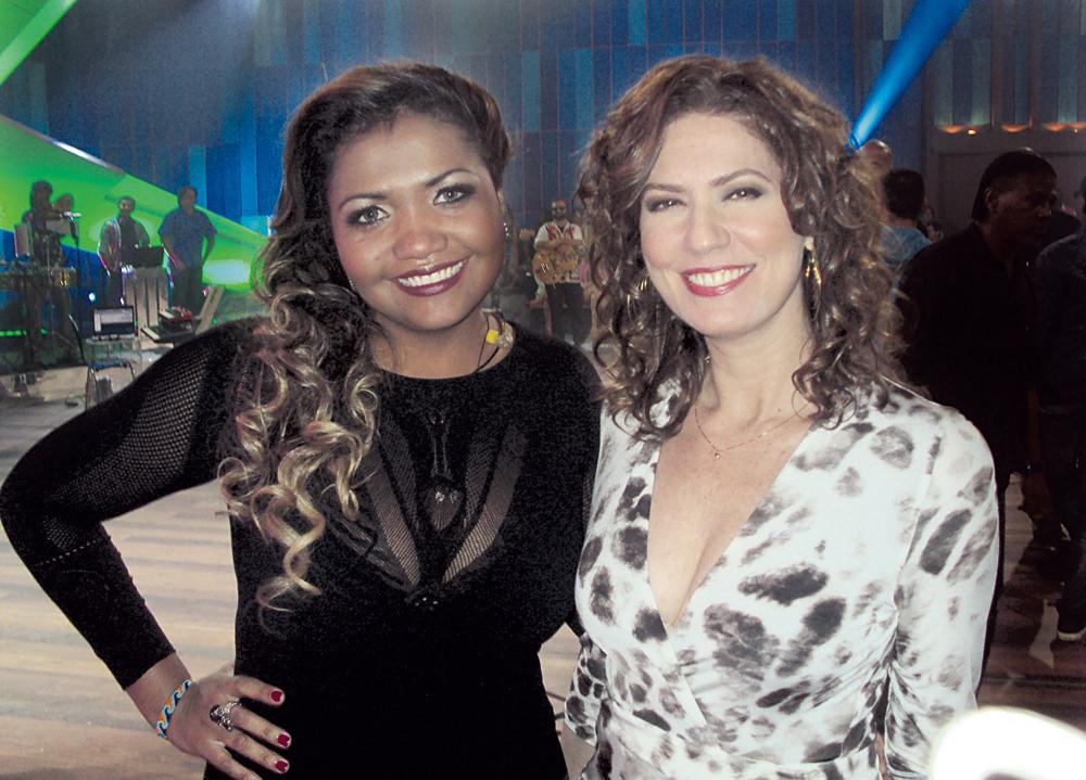 Com Patrícia Pillar, no Som Brasil, da Globo, de novembro de 2011