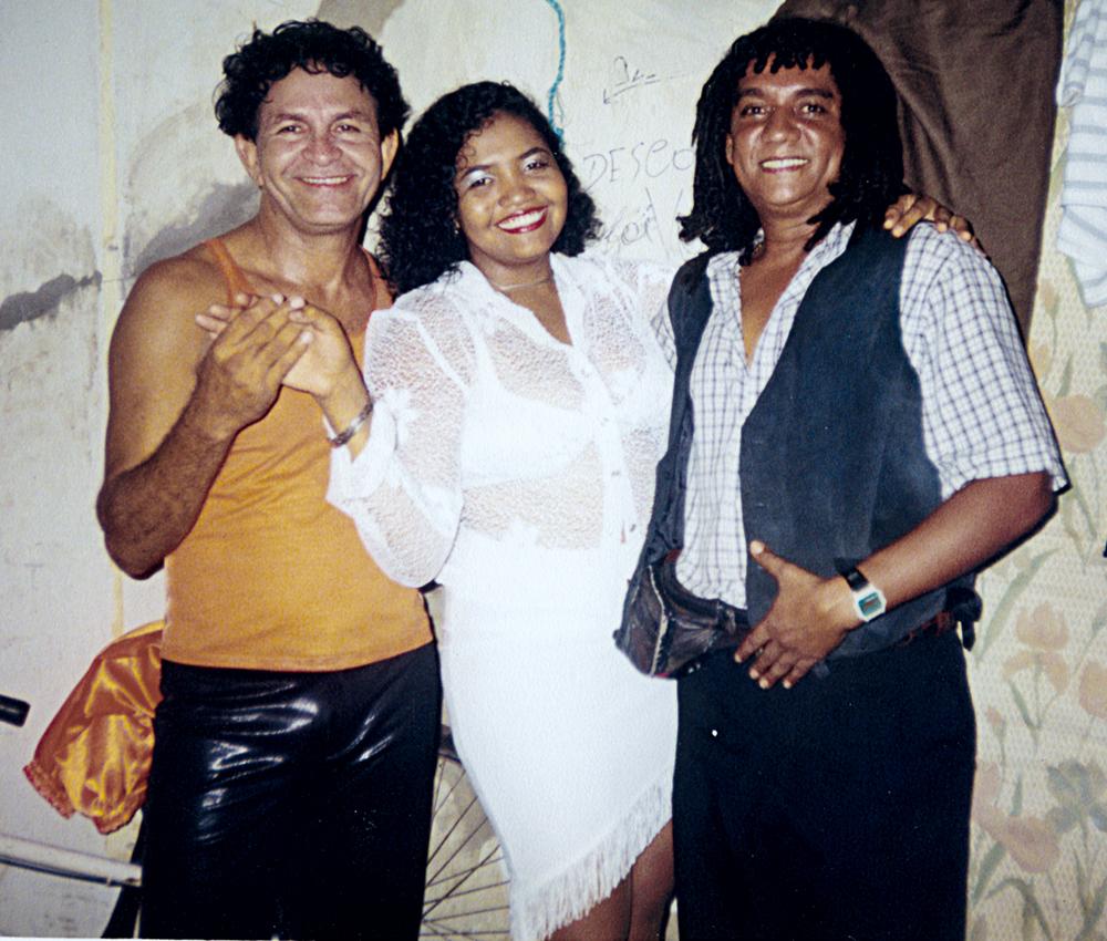 Entre Jessé Dantas e Amaury Moreira, ícones da música brega do Pará, em 1999