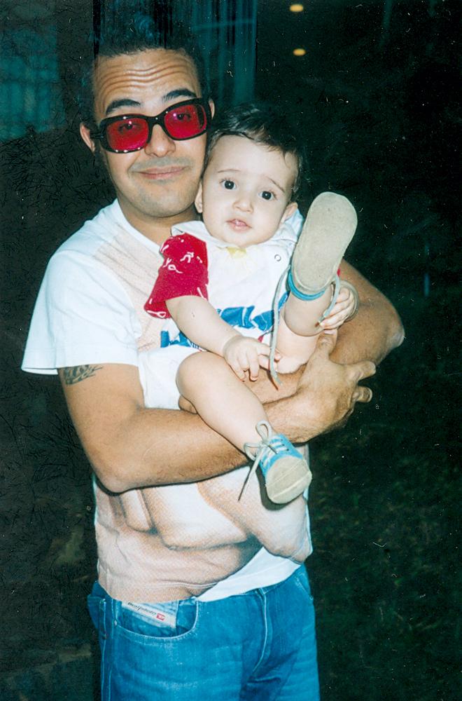 Com Ludovico, em 2002
