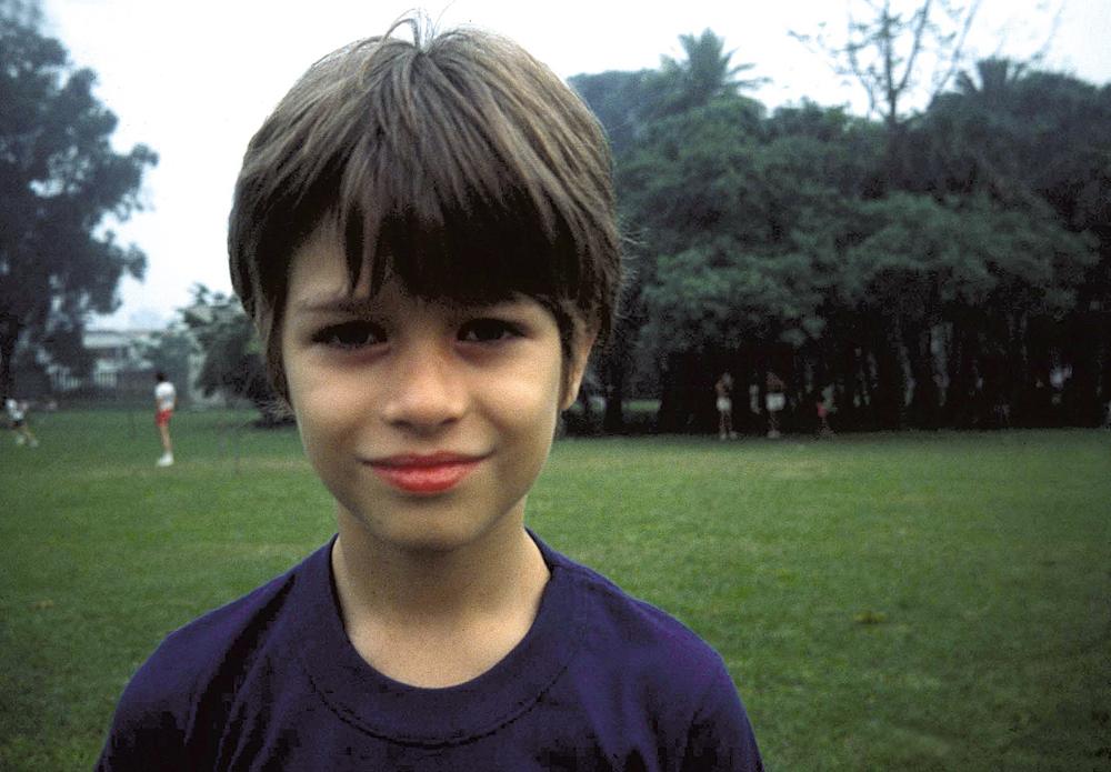Fabio ainda criança