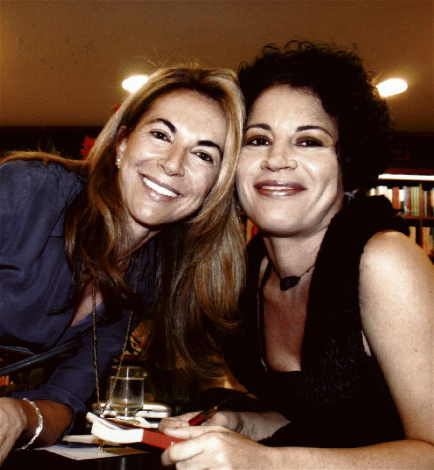 Ao lado de Aparecida Marinho, ex- mulher de Roberto Irineu Marinho