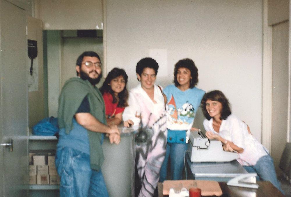 Em 1986, quando ainda morava em Vitória, com colegas da Universidade Federal do Espírito Santo