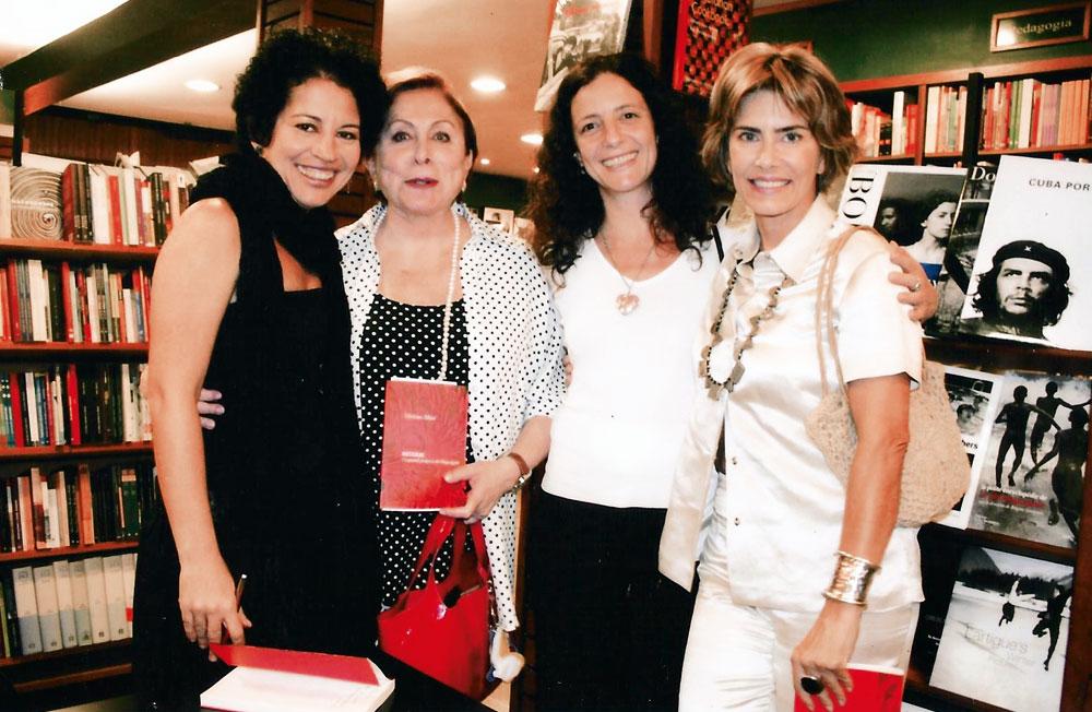 Viviane com as atrizes Aracy Balabanian, Clarisse Niskier e Maitê Proença