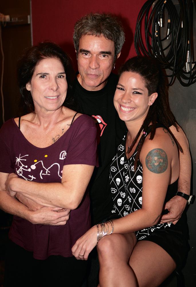 Kika com o marido e a filha.