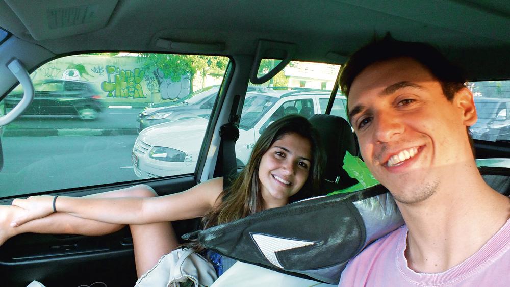 """""""Depois voltei para São Paulo com meu namorado e almocei na casa dele."""""""