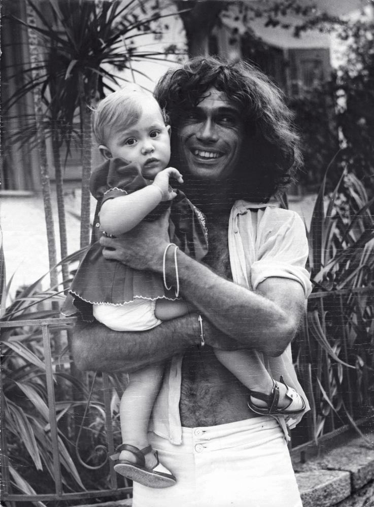 com o pai, Jorge Mautner