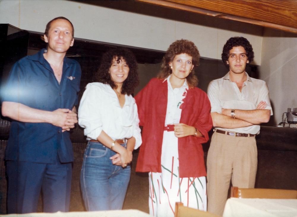 em 1993, com Marta Suplicy e dois colegas, na época que trabalhava no TV mulher