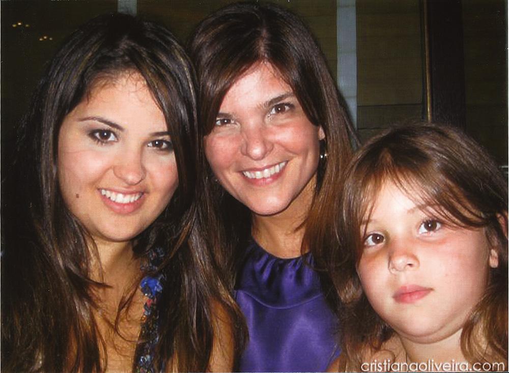 Com as filhas, Rafaela e Antonia