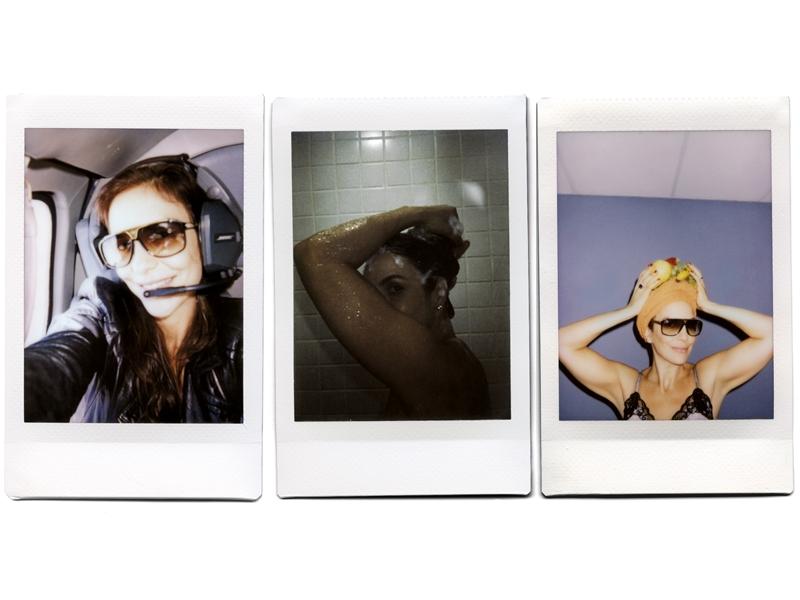 A pedido  de Tpm, Ivete fotografou  uma semana  da sua vida  com uma câmera polaroide