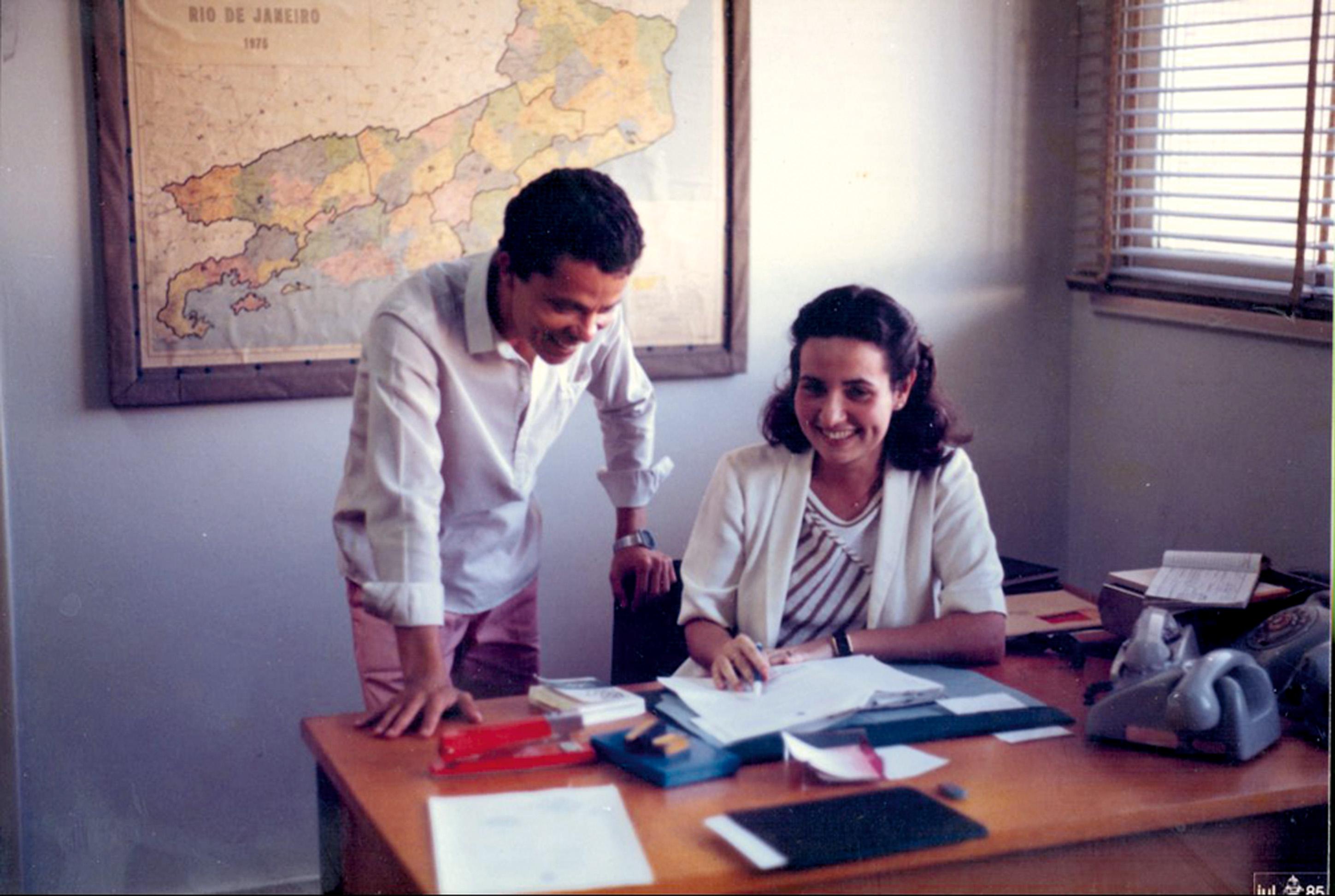 Nos tempos de escrivã, em 1988