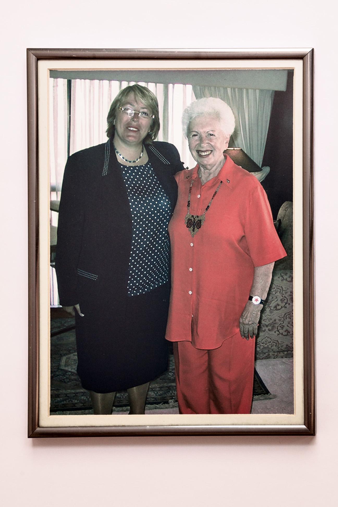 Com Michelle Bachelet