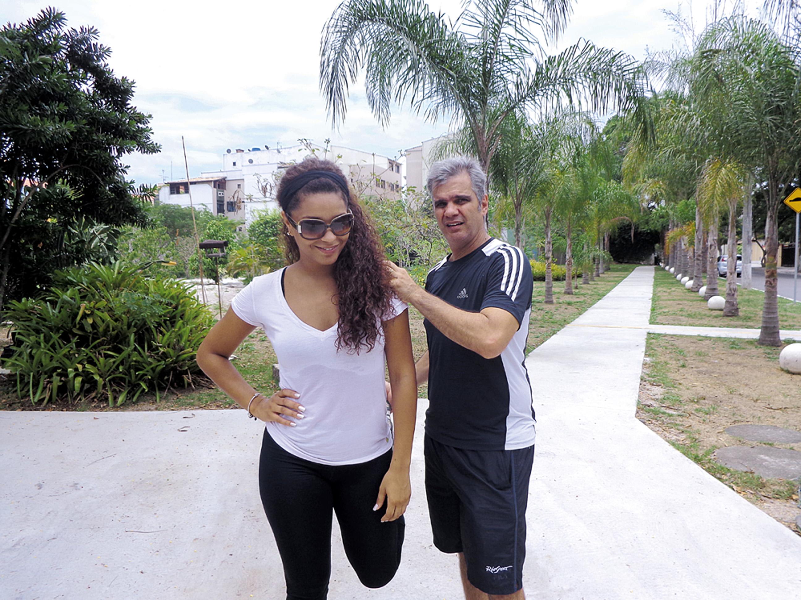 11:30 - Depois, treino com meu personal, Bebeto Cardoso.