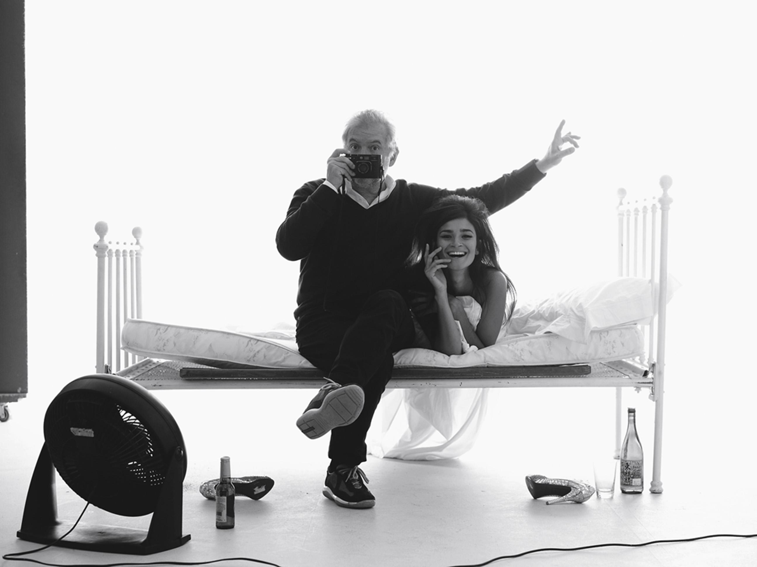Com a modelo Caroline Ribeiro, em homenagem a Bert Stern, que retratou Marilyn Monroe pouco antes de sua morte